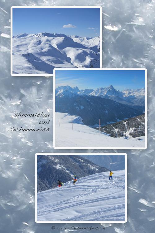 Himmelblau-schneeweiss