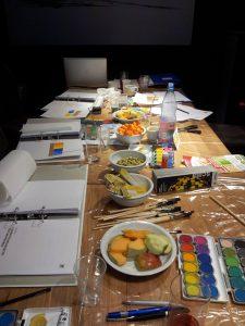 Seminarunterlagen-Farbseminar-Farbfaecher-farbkasten