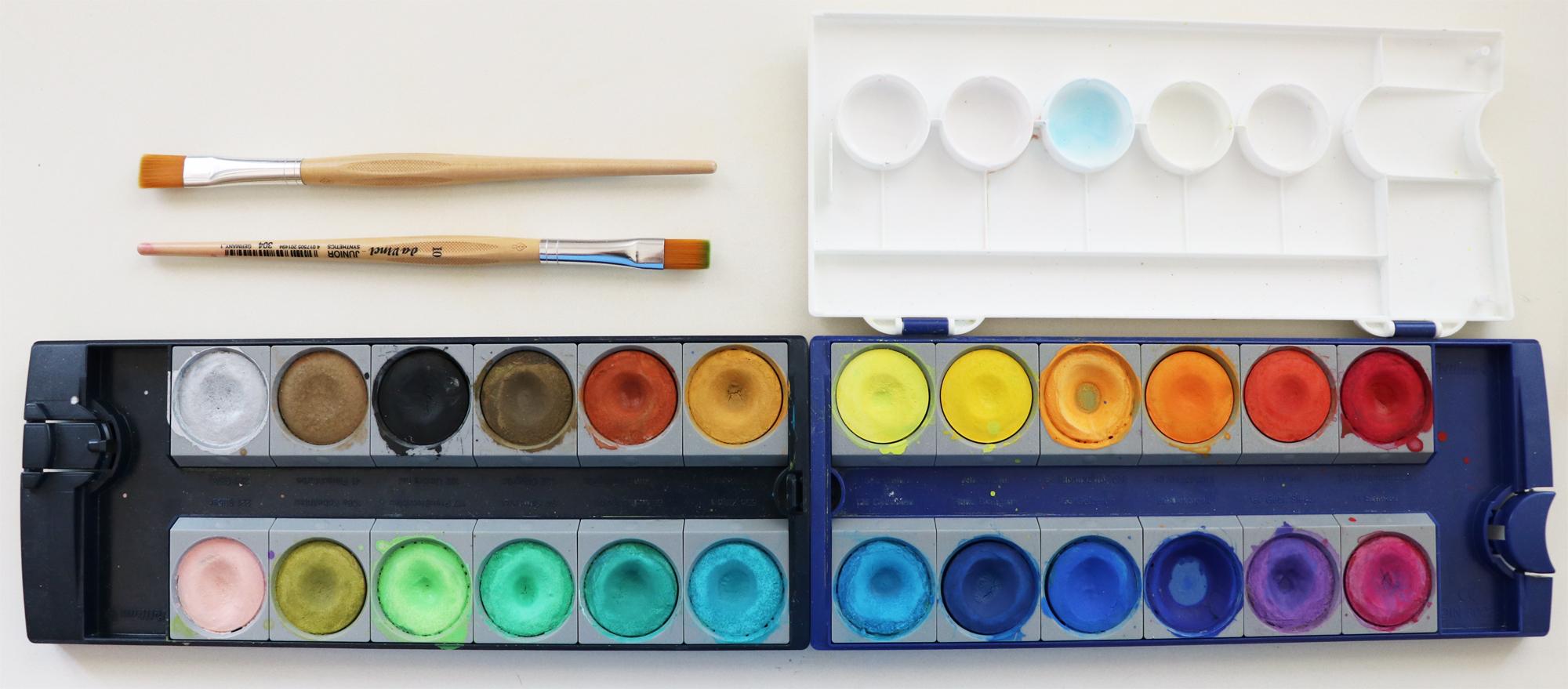 Farben-Challenge-Arbeitsmaterial