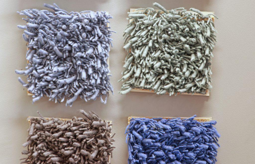 Teppich-Farbe-Struktur-Blau